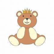 Arquivo de Corte - Urso com Coroa