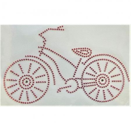 Desenho em Strass Termodinâmico Fast Patch - Pronto para Uso -Bicicleta-23x14,5cm