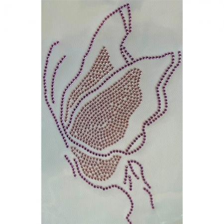 Desenho em Strass Termodinâmico Fast Patch - Pronto para Uso -Borboleta-17x27cm