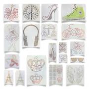 Kit Transfer Strass Fast Patch -pronto Para Uso- Coleção Princesas + Bailarinas + Retrô