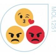 Molde  Emojis Zangado & Um Beijo
