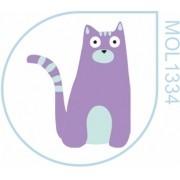 Molde Gato Azul lilac