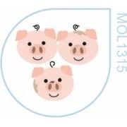 Molde Três Porquinhos