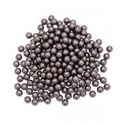Pérola Fácil  6mm cor Cinza Escuro  - 500 uni pérolas + 500 uni grampos