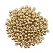 Pérola Fácil  6mm cor Ouro  - 500 uni pérolas + 500 uni grampos