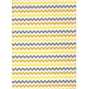 Tecido Fast Patch Termodinâmico 24x35cm - Cor: E551V  Chevron Amarelo e Cinza