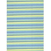 Tecido Fast Patch Termodinâmico 24x35cm - Cor: E552V Chevron Colors Azul