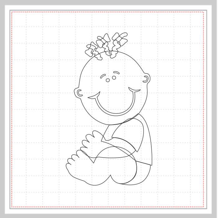 Arquivo de Corte - Bebê Menina