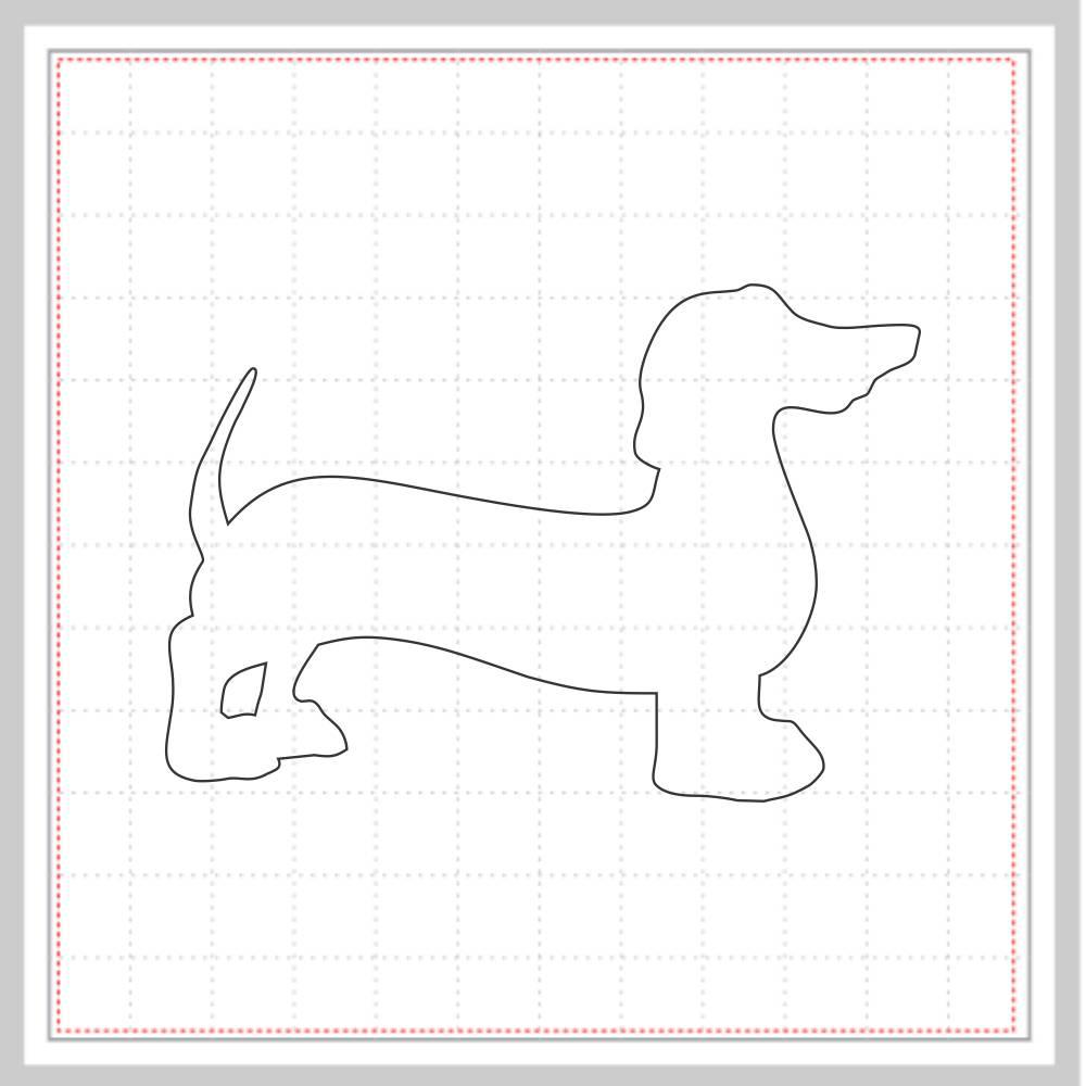 Arquivo de Corte - Cachorro Salsicha Dachshund Silhueta