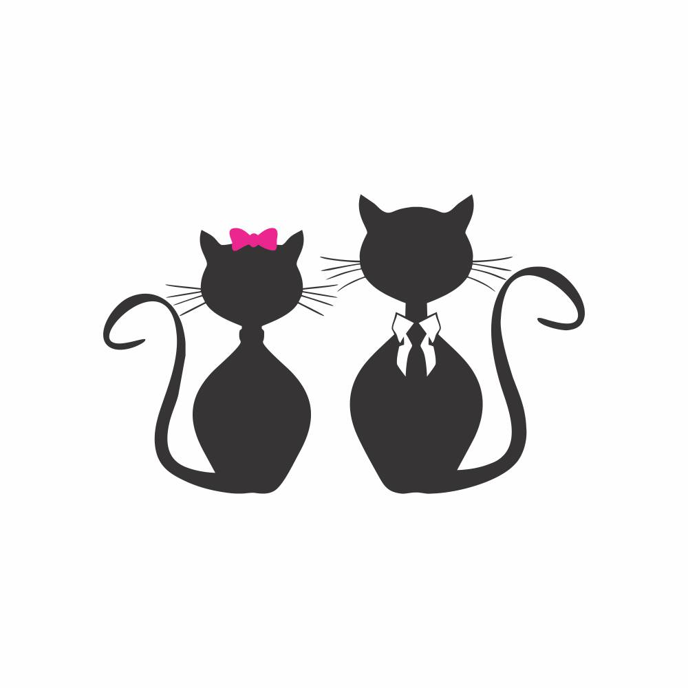 Arquivo de Corte - Casal de Gatos