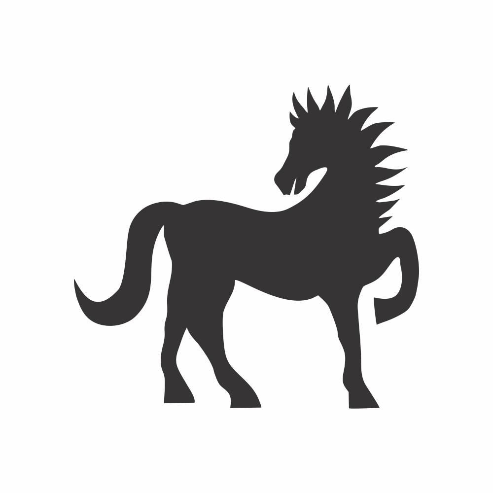 Arquivo de Corte - Cavalo Silhueta