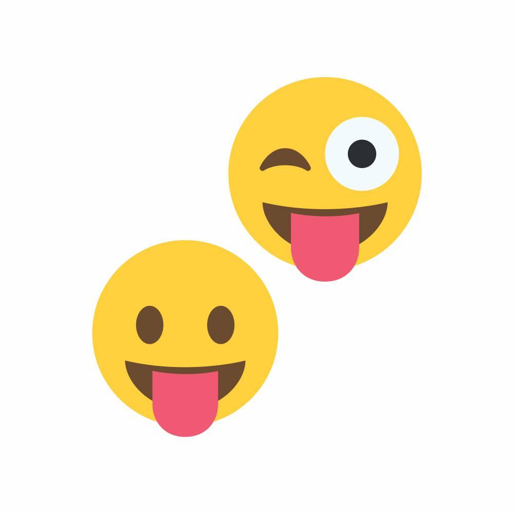 Arquivo de Corte - Emoji Lingua para Fora