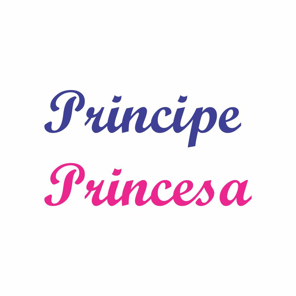 Arquivo de Corte - Escrita Principe e Princesa
