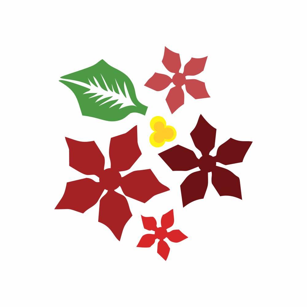 Arquivo de Corte -  Flor de Natal