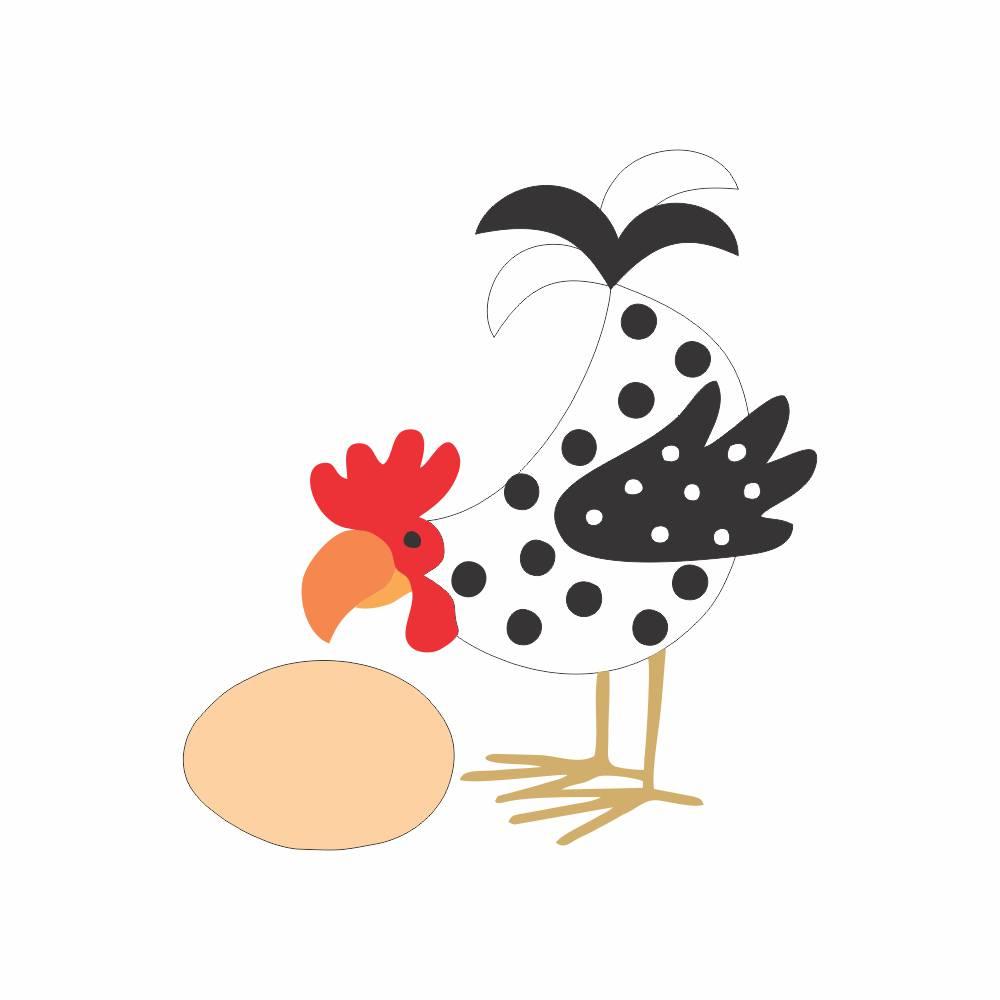 Arquivo de Corte - Galinha e Ovo