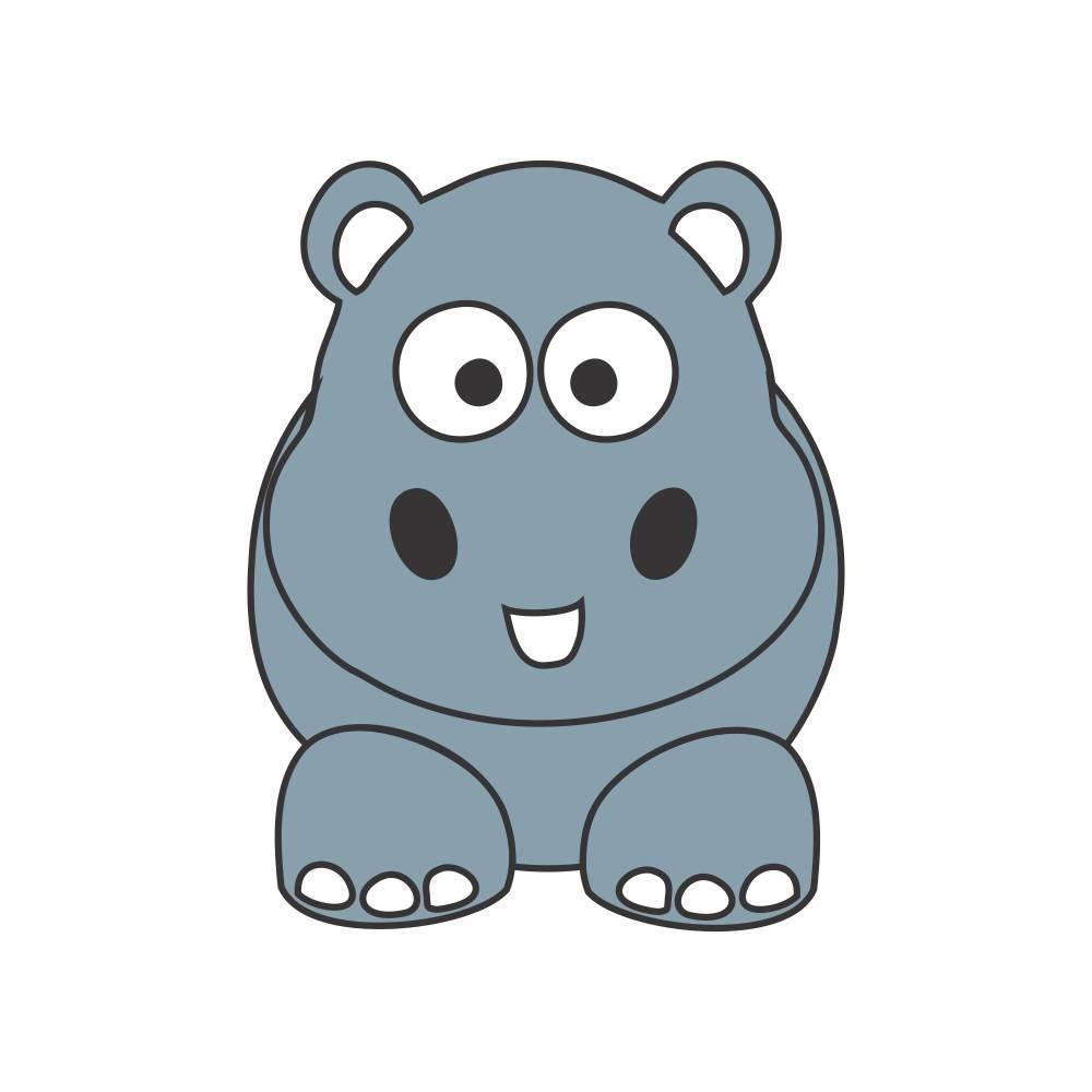 Arquivo de Corte - Hipopótamo Baby