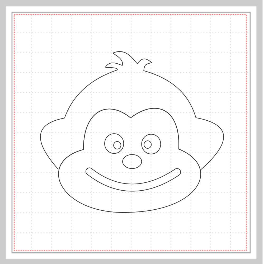 Arquivo de Corte - Macaco Rosto