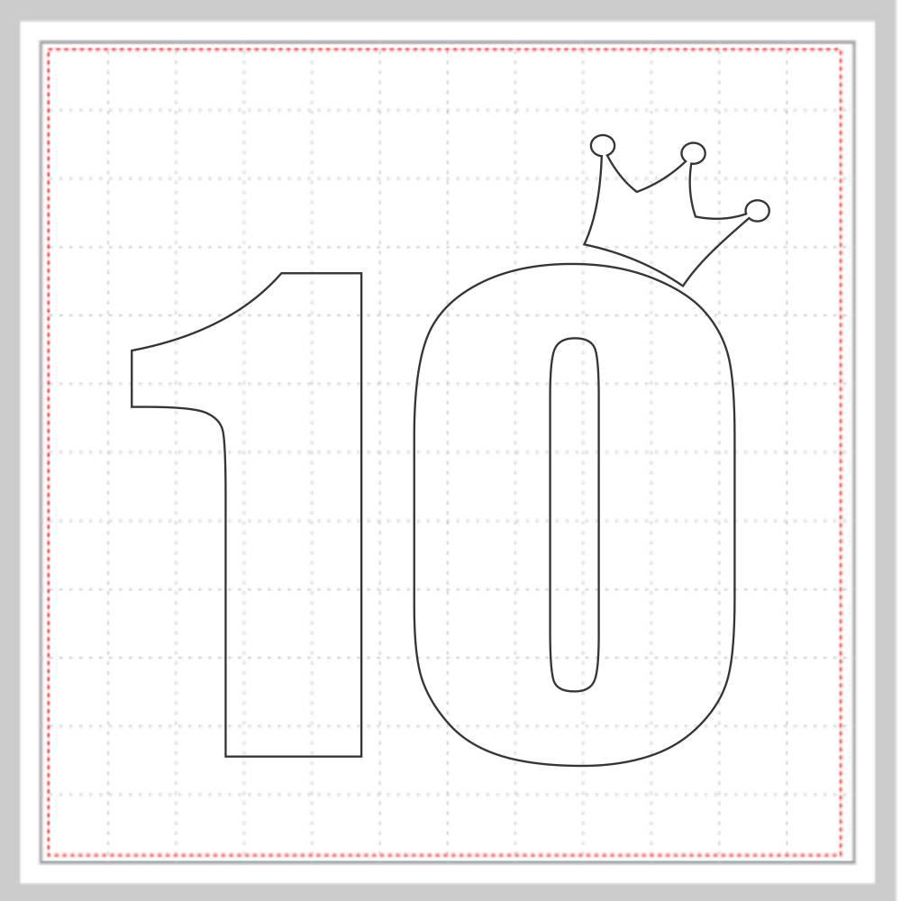 Arquivo de Corte - Mesversário 10 com Coroa