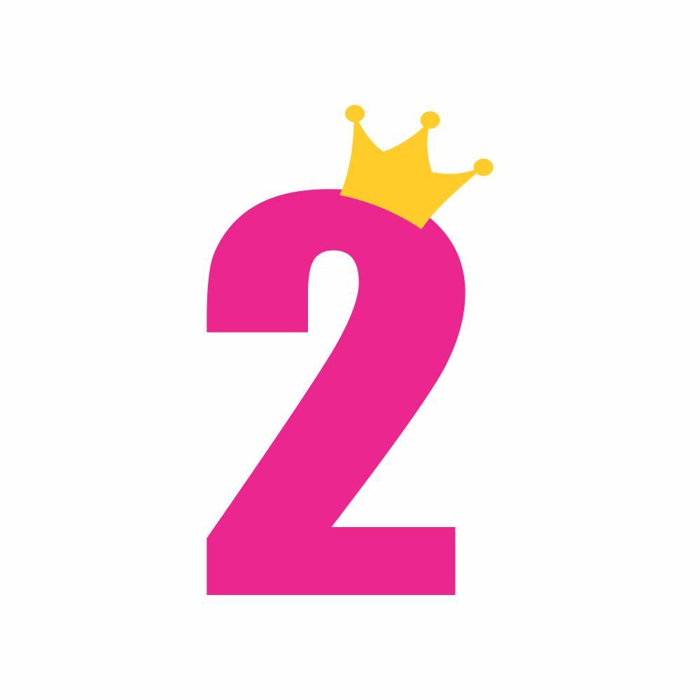 Arquivo de Corte - Mesversário 2 com Coroa