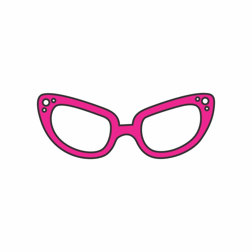 Arquivo de Corte - Óculos Retro
