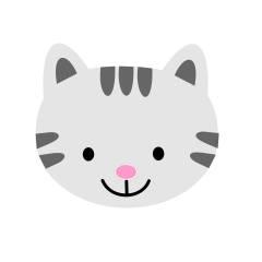 Arquivo de Corte - Rosto Gato