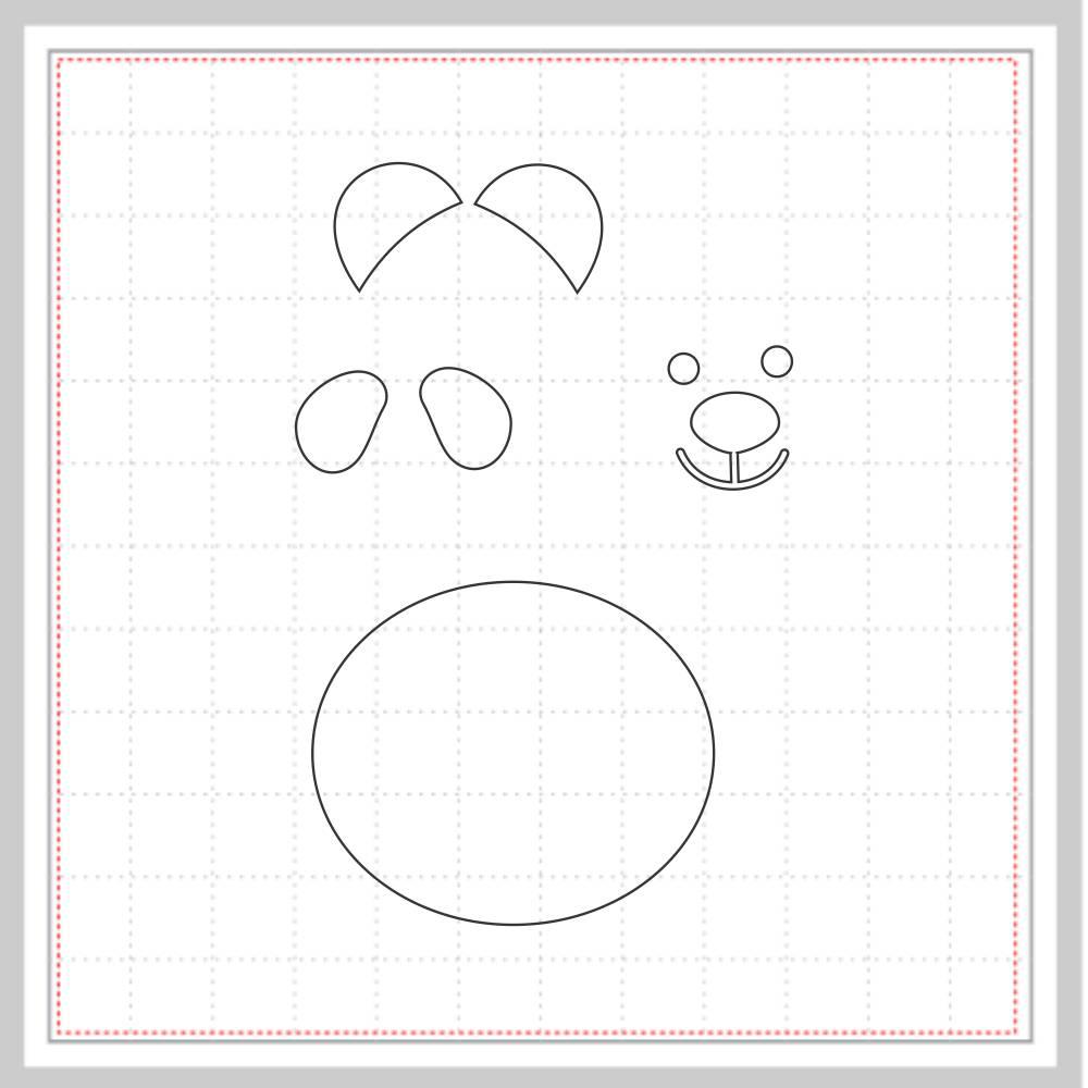 Arquivo de Corte - Rosto Panda