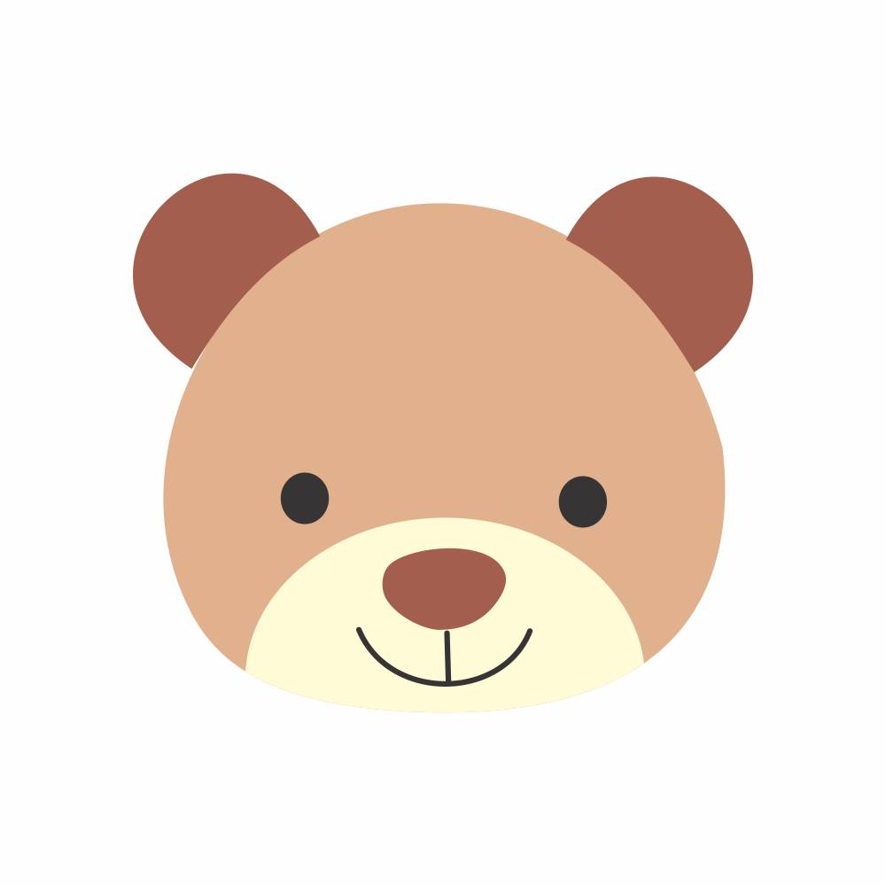 Arquivo de Corte - Rosto Urso