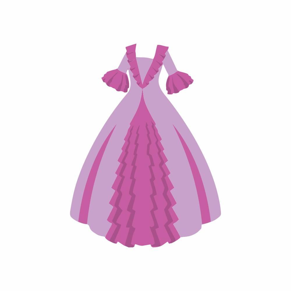 Arquivo de Corte - Vestido Princesa