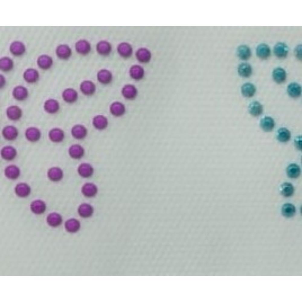 Desenho em Strass Termodinâmico Fast Patch - Pronto para Uso - Borboletas Coloridas