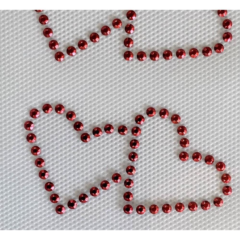 Desenho em Strass Termodinâmico Fast Patch - Pronto para Uso -Corações-6,5x5cm