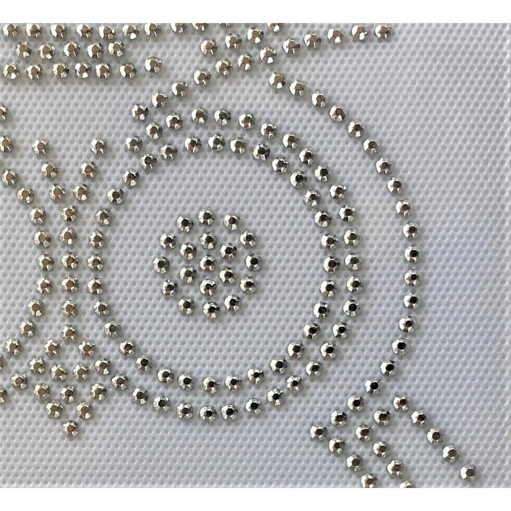 Desenho em Strass Termodinâmico Fast Patch - Pronto para Uso -Coruja prata-14x16,5cm