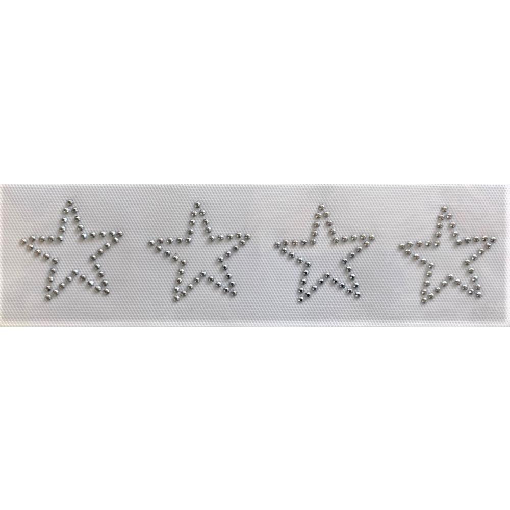 Desenho em Strass Termodinâmico Fast Patch - Pronto para Uso -Estrelas-5x5cm