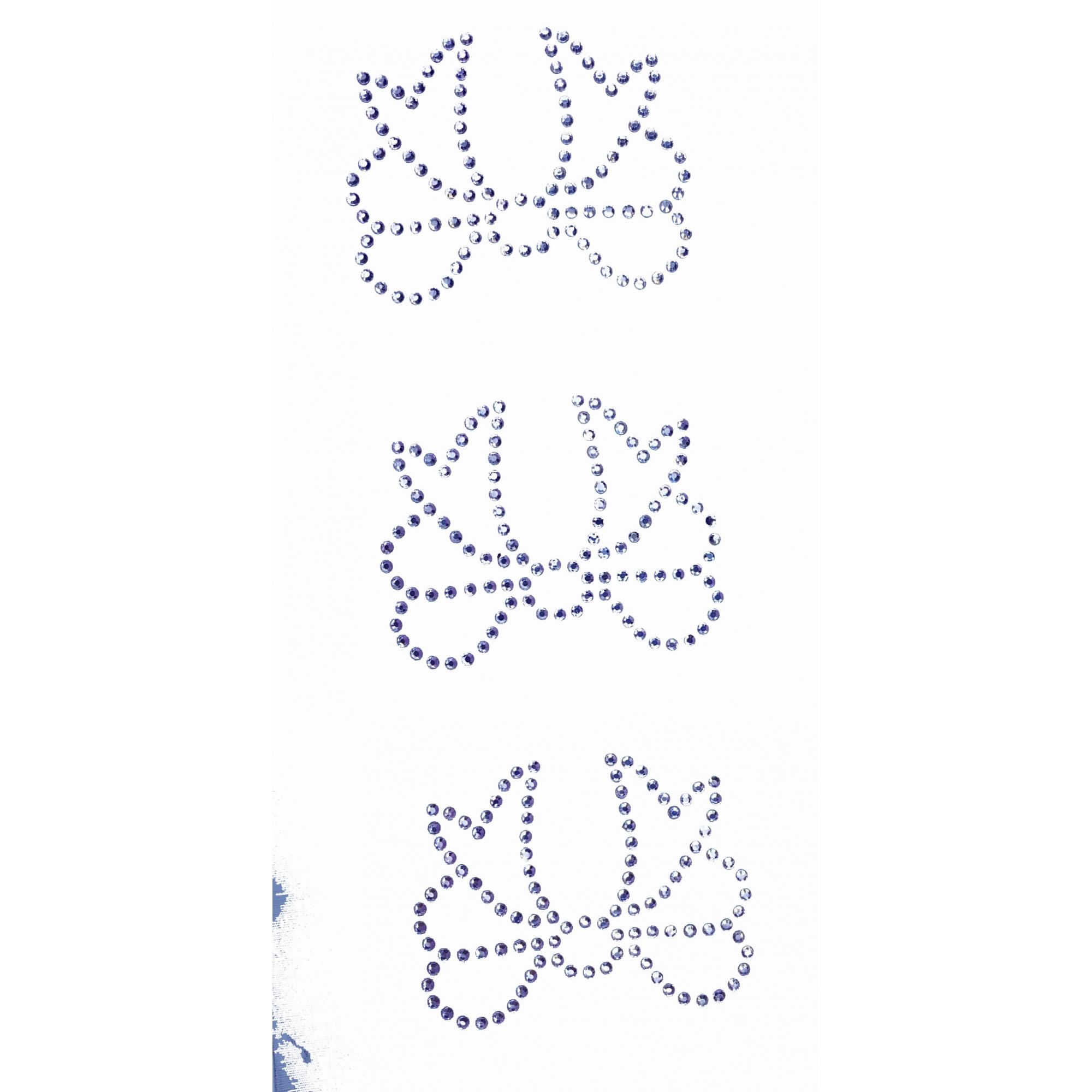 Desenho em Strass Termodinâmico Fast Patch - Pronto para Uso -Laço 3 - 7,5x6,5cm