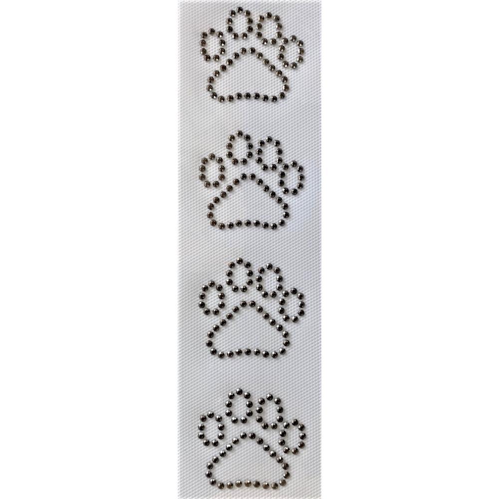 Desenho em Strass Termodinâmico Fast Patch - Pronto para Uso -Patinhas-5x4,5cm