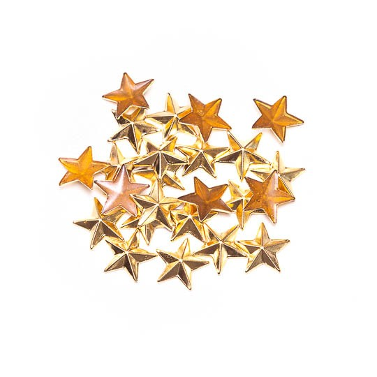 Metal Estrela Fast Patch Termodinâmico 13mm - Dourado - 12 uni