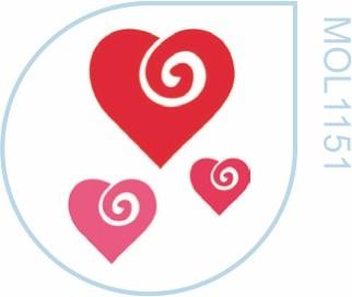 Molde Coração 3 tamanhos