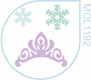 Molde  Coroa e Floco de Neve