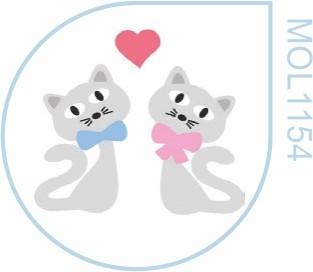 Molde Gatinhos Namorados