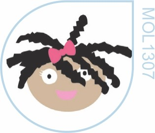 Molde Menina Afro