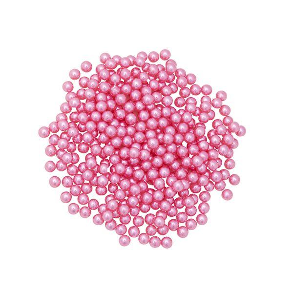 Pérola Fácil  4mm cor Rosa Escuro  - 500 uni pérolas + 500 uni grampos