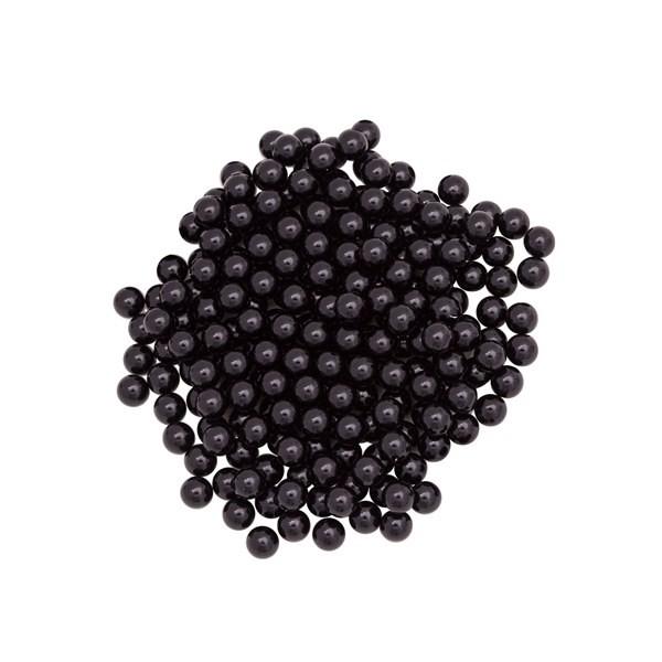 Pérola Fácil  6mm cor Pérola Negra  - 500 uni pérolas + 500 uni grampos