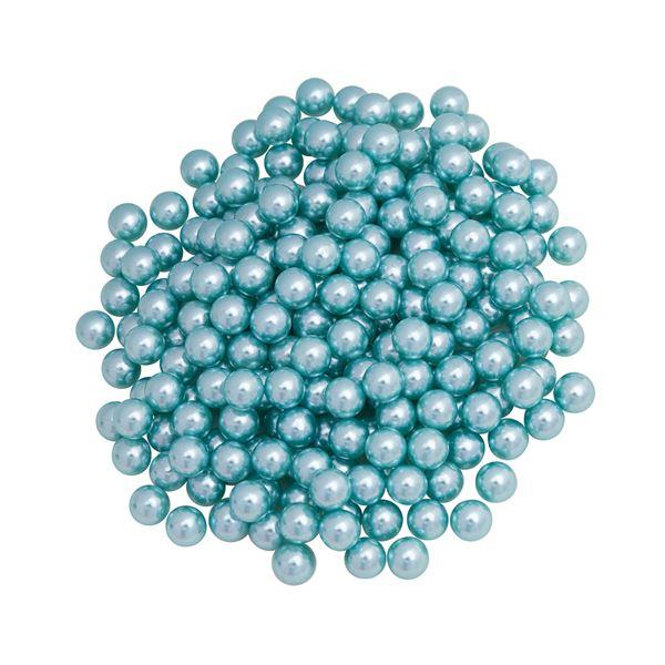 Pérola Fácil  6mm cor Tiffany  - 500 uni pérolas + 500 uni grampos
