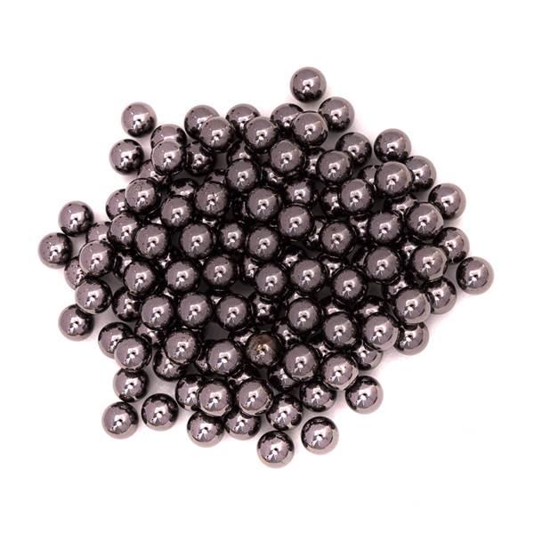 Pérola Fácil Facetada  8mm cor Cinza Escuro  - 250 uni pérolas + 250 uni grampos
