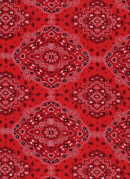 Tecido Fast Patch Termodinâmico 24x35cm - Cor: E548V Bandana Vermelha