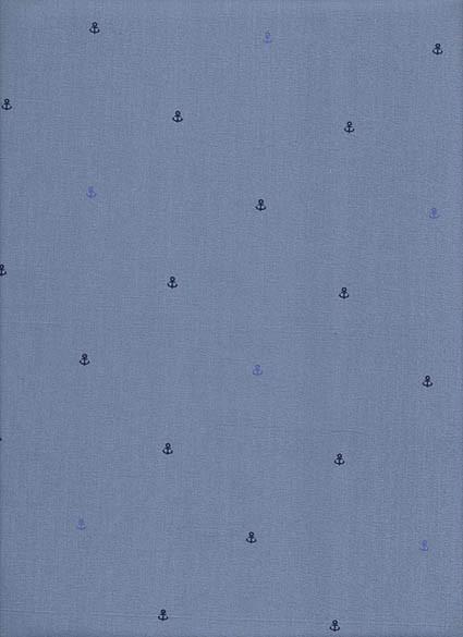Tecido Fast Patch Termodinâmico 24x35cm - Cor: E565V Mini Âncora Azul