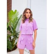 Conjunto Vitória Crepe de Seda Short e Camisa