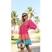 Vestido Chifon Color Amplo
