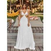 Vestido Longo Abertura Branco