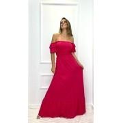 Vestido longo Ciganinha  Rosa (Tamanho único)