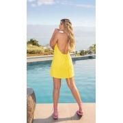 Vestido Mariah Linho Amarelo Aberto Frente única